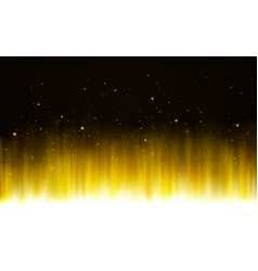 glowing golden shining bright light with magic vector image