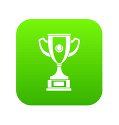gold cup icon digital green vector image