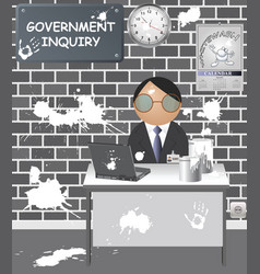 Government inquiry cover up vector