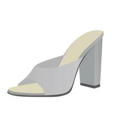 Grey woman sandal vector