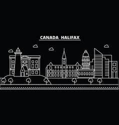halifax silhouette skyline canada - halifax vector image