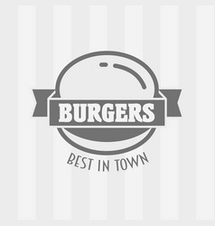 Hamburger badge or logo vector