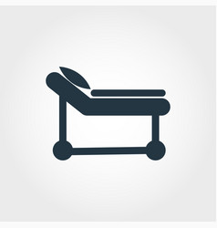 Hospital cot icon line style icon design hospital vector