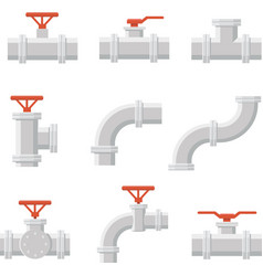 icon of water pipe connector for plumbing vector image