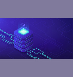 isometric data center architecture concept vector image