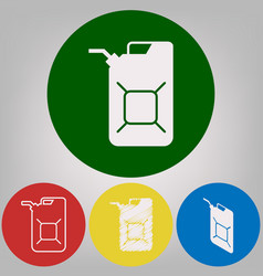 Jerrycan oil sign jerry can oil sign 4 vector