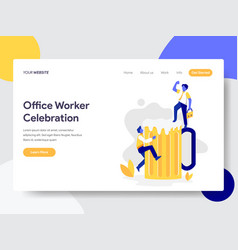 landing page template office worker vector image