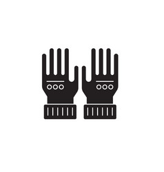 leather gloves black concept icon leather vector image