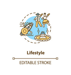 lifestyle concept icon vector image