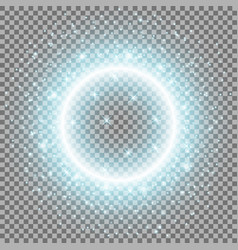 light ring with stardust aqua color vector image