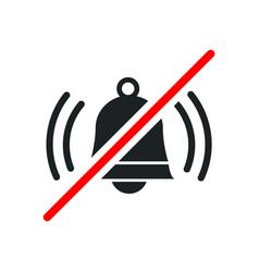 Loud sound not allowed keep quiet red forbidden vector