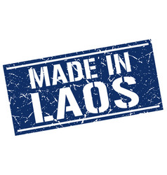 Made in laos stamp vector