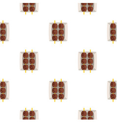 Meat shashlik pattern seamless vector