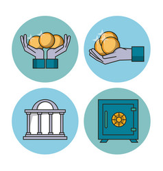 money and financial technology icons vector image