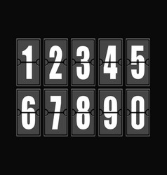 Numbers set in modern style elements vector