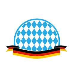 oktoberfest template blue rhombuses and ribbon vector image