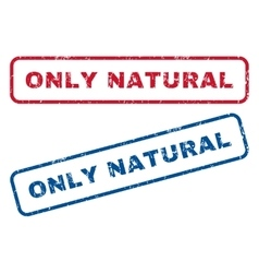 Only Natural Rubber Stamps vector