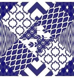 Patchwork quilt pattern tiles vector