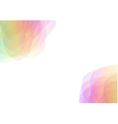 Petal abstract corner background vector