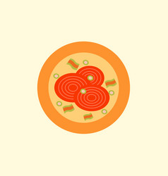 Pizza with onion simple vector