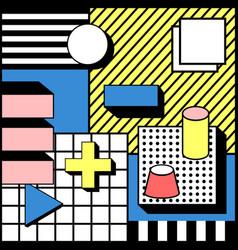 Playful blocks geometric stylish background vector