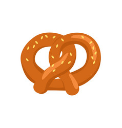 pretzel crisp biscuit baked in form of knot icon vector image