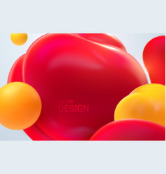 red and yellow translucent bubbles vector image