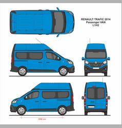 Renault trafic passenger van l1h2 2014 vector