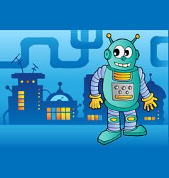 robot theme image 2 vector image