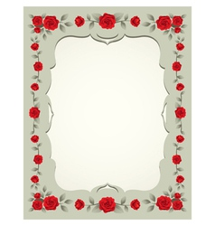 Roses Vintage Frame and Border vector