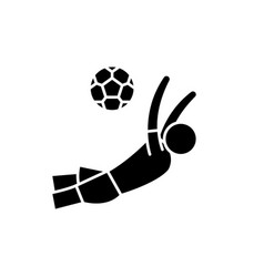 score a goal in football black icon sign vector image