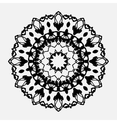 Seamless abstract background with round lace vector image