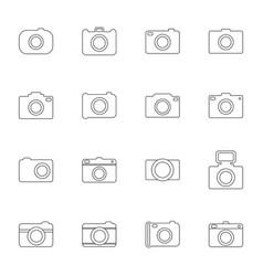 set photo icons vector image