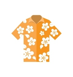 shirt hawaiian flowers vector image