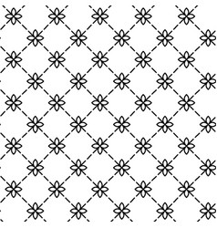 Simple and graceful floral pattern design template vector
