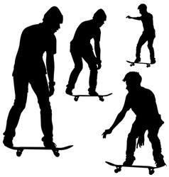 Skateboard Silhouette vector image
