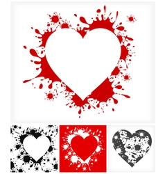 splash heart shape vector image