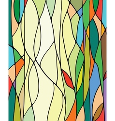 Stained glass window vector