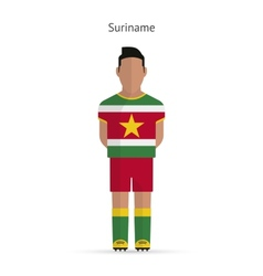 Suriname football player Soccer uniform vector