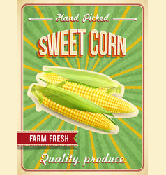 Sweet Corn Poster vector