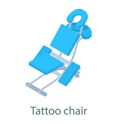 Tattoo chair icon isometric 3d style vector