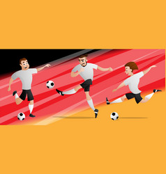Team germany football soccer players set vector