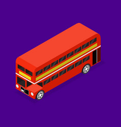 transport red bus 3d isometric view vector image
