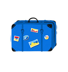 Travel bag on white background vector