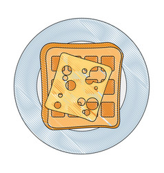 Waffles icon image vector
