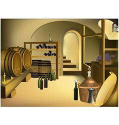 Wine cellar vector