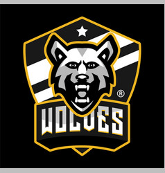 wolves mascot sports logo vector image