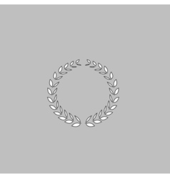 Wreath icon vector