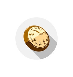 3d pocket watch graphic Three-dimensional timer vector image