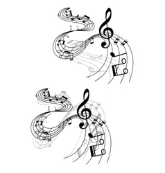 Abstract musical designs vector image vector image
